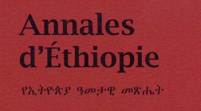 Annales d'Éthiopie, n° 25, 2010