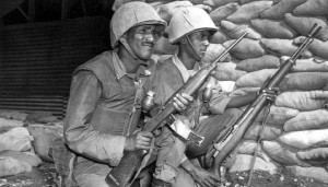 Ethiopian soldiers, Ethiopian Battalion, 7th Infantry Division, Korea, 1953 (Source: United States Army Heritage and Education Center)