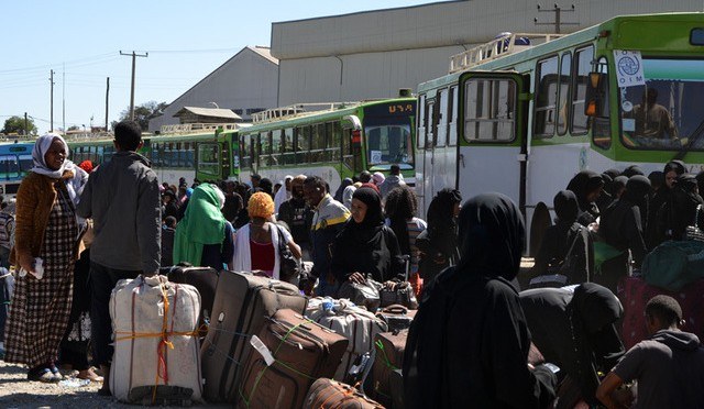 The expulsion of Ethiopian workers from Saudi Arabia